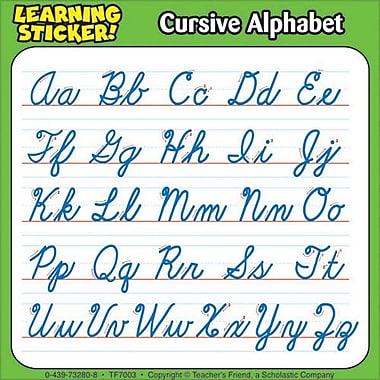Cursive Alphabet Learning Stickers