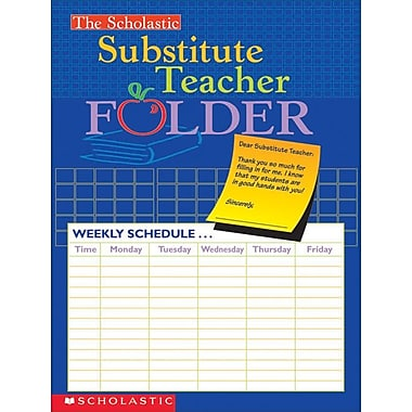 The Scholastic Substitute Teacher Folder