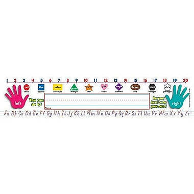 Super School Tool Name Plates Primary Grades (Modern Manuscript)