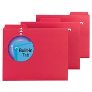 Smead® FasTab™ Hanging File Folders, Letter, 3 Tab, Red, 20/Box
