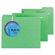 Smead® FasTab™ Hanging File Folders, Letter, 3 Tab, Green, 20/Box