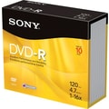 Sony 10/Pack 4.7GB DVD-R, Jewel Cases