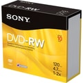 Sony 10/Pack 4.7GB DVD-RW, Jewel Cases