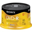 Sony 50/Pack 4.7GB DVD-R, Spindle