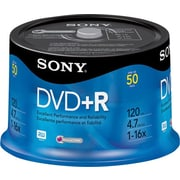 Sony 50/Pack 4.7GB DVD+R, Spindle