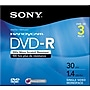 Sony 3/Pack 1.4GB DVD-R, Mini Jewel Case for