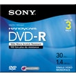 Sony 3/Pack 1.4GB DVD-R, Mini Jewel Case for Camcorders