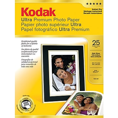Kodak Ultra Premium Picture Paper, High Gloss, 8 1/2