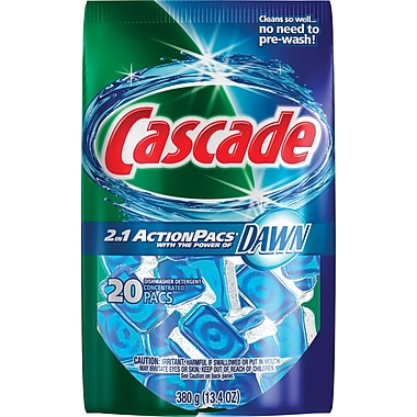 Cascade® 2-in-1 Action Pacs® Automatic Dishwasher Detergent