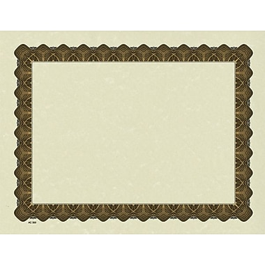 Great Papers® Parchment Certificate Paper with Metallic Gold Border, 100/Pack