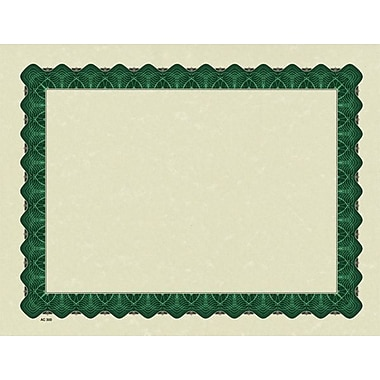 Great Papers® Parchment Certificate Paper with Metallic Green Border