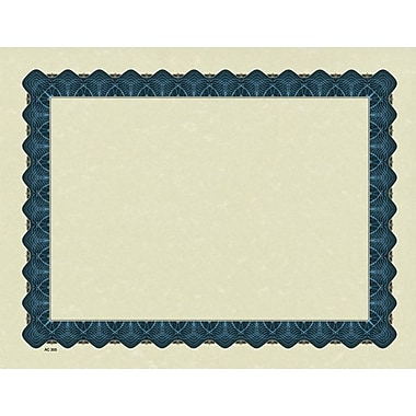 Great Papers® Parchment Certificate Paper with Metallic Blue Border, 100/Pack