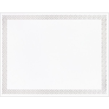 Great Papers® Silver Braided Foil Border Certificate, 15/Pack