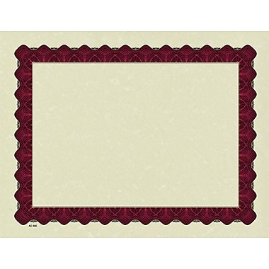 Great Papers® Parchment Certificate Paper with Metallic Red Border, 100/Pack