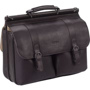 Solo Executive Espresso Leather Laptop Briefcase (D535-3)