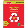 Staples® 100% Recycled Copy Paper, 8 1/2in. x 11in., Ream