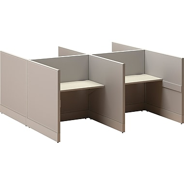 Call Center Cubicle Solution, Four Cubes, 96in. x 96in. x 48in.