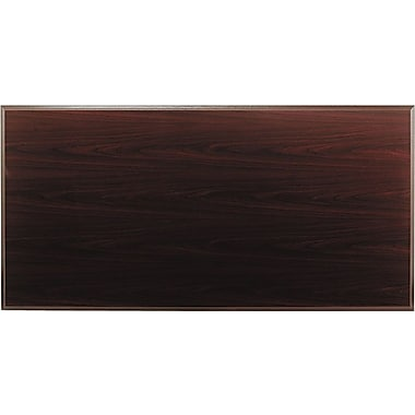 HON 6' Rectangular Traditional Laminate Conference Table Top, Mahogany