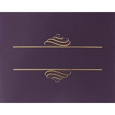 Great Papers® Foil Enhanced Certificate Covers, Plum