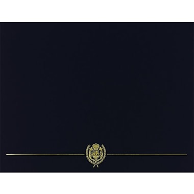 Great Papers® Classic Crest Certificate Holders, Black, 5/Pack