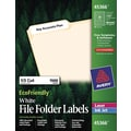 Avery® EcoFriendly White Multipurpose File Folder Labels, 2/3in. x 3 7/16in.