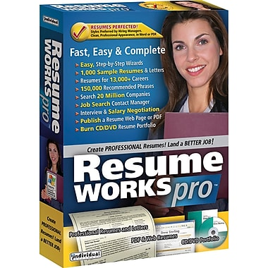 Individual Software Resume Works Pro for Windows (1-User) [Boxed]