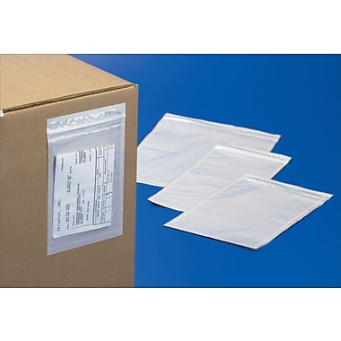 3-Mil Easy-Zip Adhesive-Backed Bags, 6