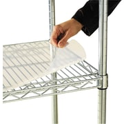 "Alera Industrial Wire Shelving 36""W x 24""D Clear Shelf Liners, 4/Pack"