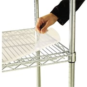 "Alera Industrial Wire Shelving 48""W x 18""D Clear Shelf Liners, 4/Pack"