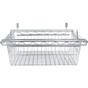 Alera Industrial Wire Shelving 18W x 24D Silver Sliding Wire Basket