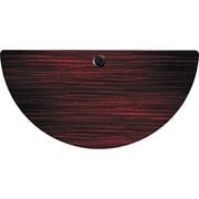 Alera Valencia Series 4' Half Round Woodgrain Laminate Training Table Top, Mahogany