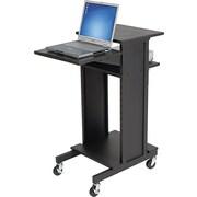Balt® Three Shelf Presentation Cart, Black