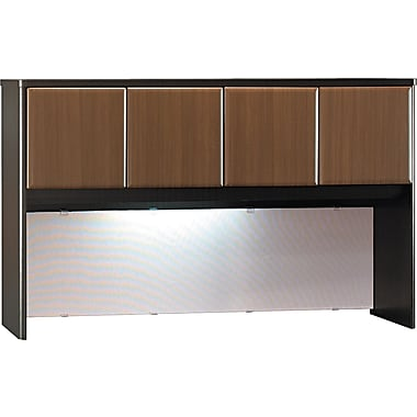 Bush Cubix 60in. Hutch, Cappuccino Cherry/Hazelnut Brown, Fully assembled