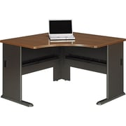 Bush® Cubix 48 Corner Desk, Cappuccino Cherry/Hazelnut Brown