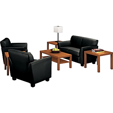 basyx by HON Laminate Wood Coffee Table, Black