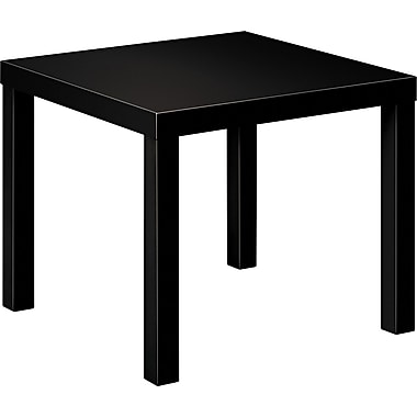 basyx by HON Laminate Wood End Table, Black