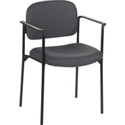 basyx by HON® VL616 Stacking Guest Chair, Charcoal (BSXVL616VA19)