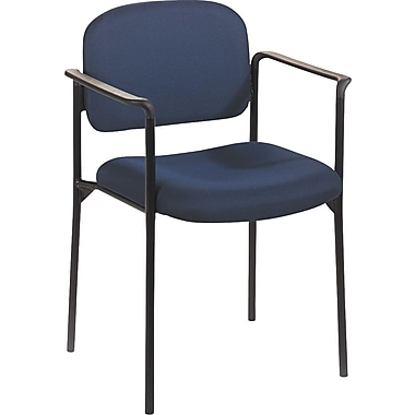 basyx by HON  Fabric Stacking Guest Arm Chair, Navy