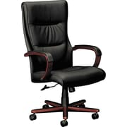 basyx by HON HVL803 Executive High Back Wood Desk or Computer Chair, Black