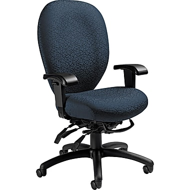 Global Mallorca Series Fabric High Back Multi-Tilter Swivel Chair, Atmosphere Blue
