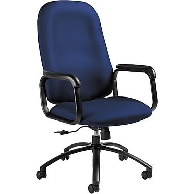 Global Max Series High Back Pneumatic Tilt Chair, Midnight Blue