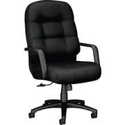 HON® 2091 Pillow-Soft™ Polyester High Back Swivel/Tilt Chair, Black