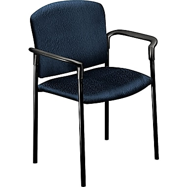 HON® Pagoda 4071 Polyester Stacking Arm Chairs, Mariner, 2/Pack
