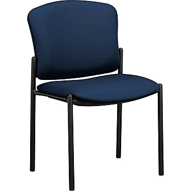 HON® Pagoda 4073 Polyester Stacking Armless Chairs, Mariner, 2/Pack