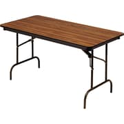 "Iceberg 5'x30"" Melamine Laminate Folding Banquet Table, Oak"