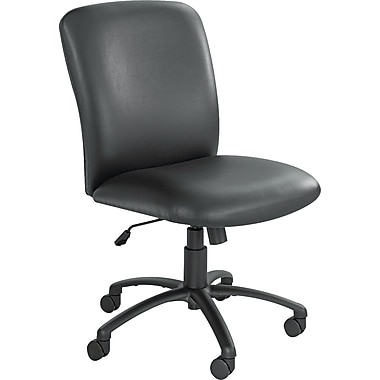 Safco Uber Big-and-Tall High-Back Vinyl Manager's Chair, Armless, Black