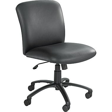 Safco® Uber™ Big & Tall Mid-Back Vinyl Managers Chair, Black