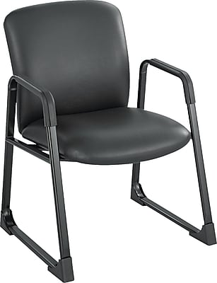 Safco Uber Big and Tall Vinyl Guest Chair, Black 750518