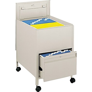 Tub File with Locking Drawer, Putty, 26