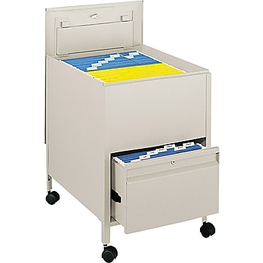 Tub File with Locking Drawer, Putty, 26in. Deep, Legal Size - 28in.H x 20in.W